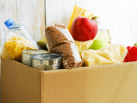 A box full of food items