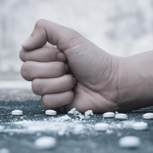 Hand smashing pills
