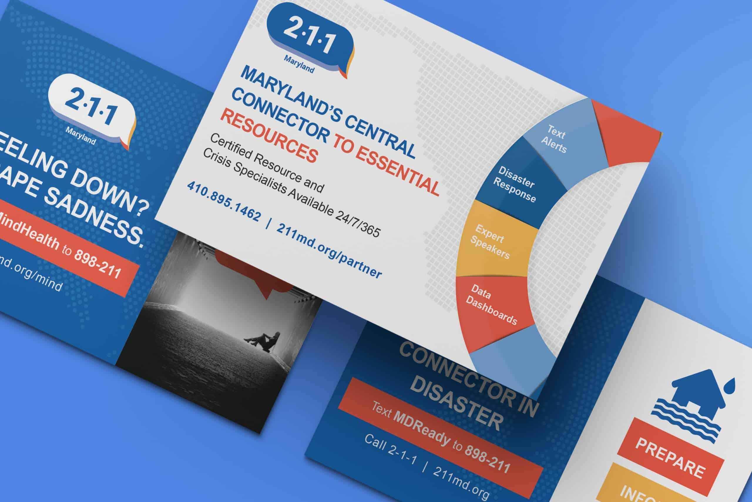 211 Maryland Outreach cards